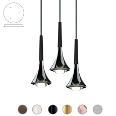 Studio Italia Design Lampe à suspension Rain LED 27W Ø 8,5 cm