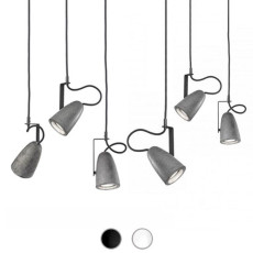 Sillux Suspension Forata 6 Lumières GU10 LED L 60 cm