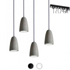 Sillux Suspension Forata 4 Lumières GU10 LED L 90 cm