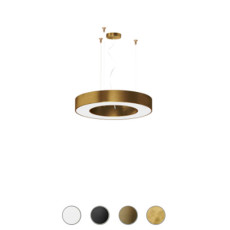 Panzeri Lampe suspension dimmable Silver Ring LED Ø 54 cm