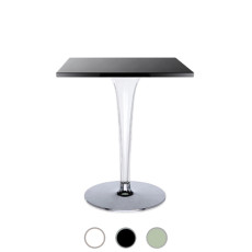 Kartell Table carrée Toptop base ronde Ø 60cm