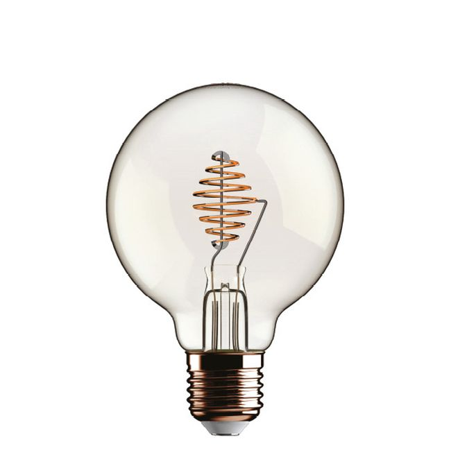 Ampoule Beauty Eddy Led Globo 4.5W E27 2700 K 220/240 V 12.5x17.5 cm Transparent dimmable DLItalia