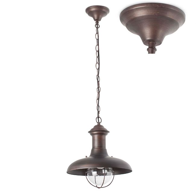Faro Outdoor Lampe à suspension Estoril-G 1 lumière E27 Ø 32 cm