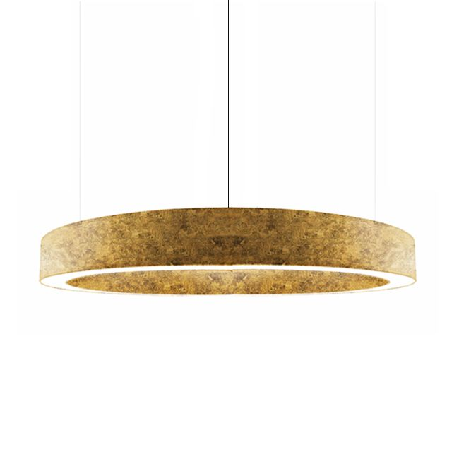 Panzeri Lampe Suspension Golden Ring LED 220W Ø 183 cm Dimmable Feuille d'Or