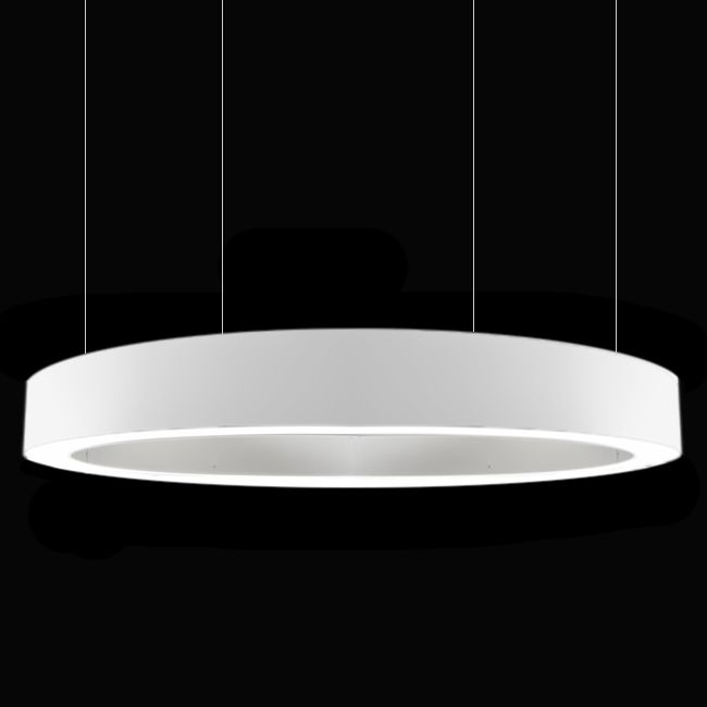Panzeri Lampe Suspension Golden Ring LED 370W Ø 301 cm Dimmable Blanc