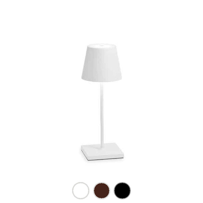 Ai Lati Lights Poldina Pro Mini Lampe de table rechargeable LED H 30 cm dimmable By Zafferano