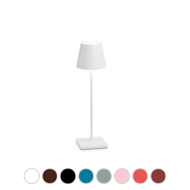 Ai Lati Lights Poldina Pro Lampe de table rechargeable LED H 38 cm dimmable By Zafferano