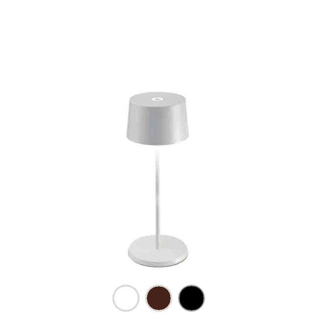 Ai Lati Lights Lampe de table à piles rechargeable Olivia mini LED 2.2W IP65 H 30 cm dimmable Pour une utilisation intérieure et extérieure