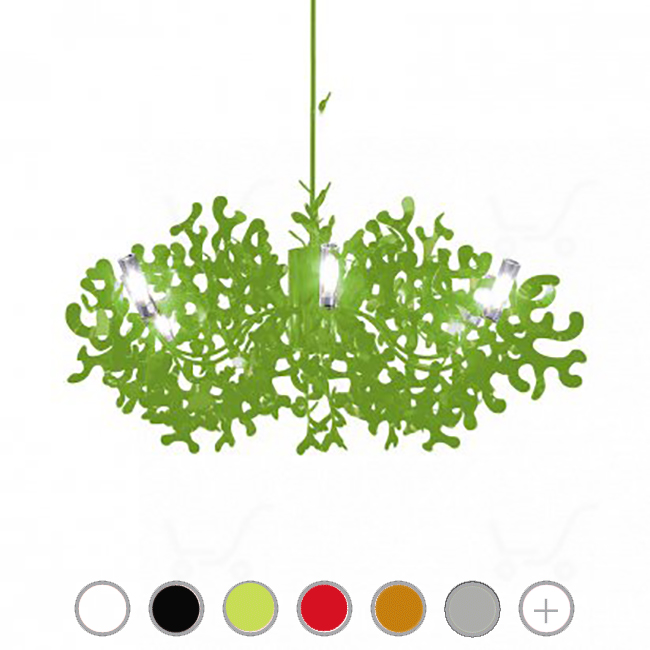 Lumen Center Coral Suspension Ø 105 cm 8 Ampoules