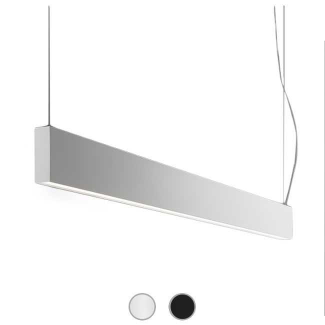 Panzeri Giano Suspension LED 77W L 151,5 cm Dimmable