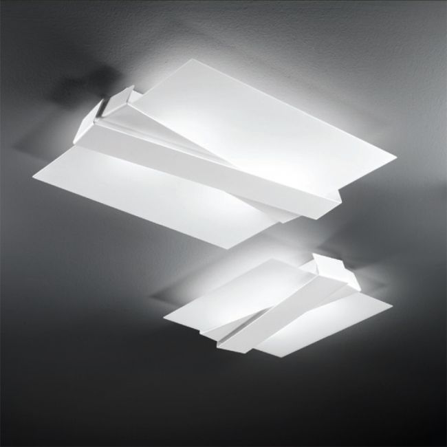 Linea Light Applique/plafonnier Zig Zag 4 Lumières E27 L 57 cm