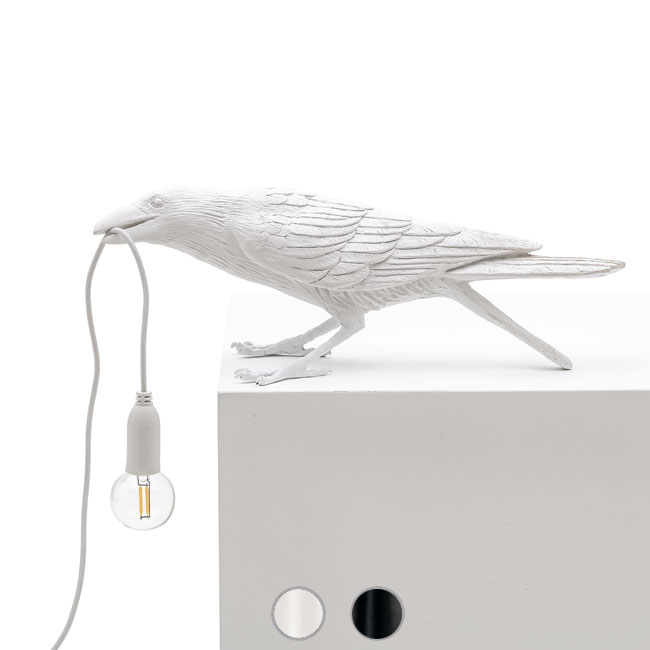 Seletti Lampe de table Bird Playing 1 Lumière E14 L 33,5x11,5 cm
