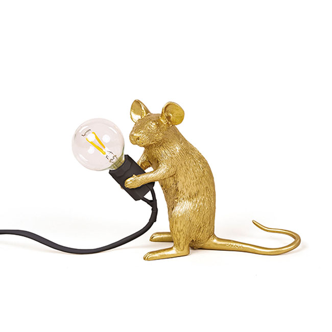 Seletti Lampe de table Mouse Lamp Mac 1 Lumière E12 H 12,5 cm de plein air
