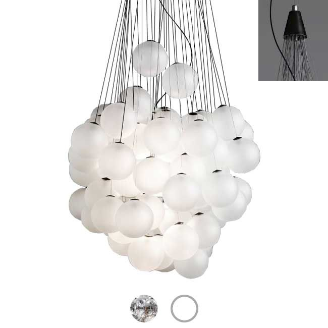Luceplan Lampe à suspension Stochastic LED 25W Ø 40 cm Dimmable