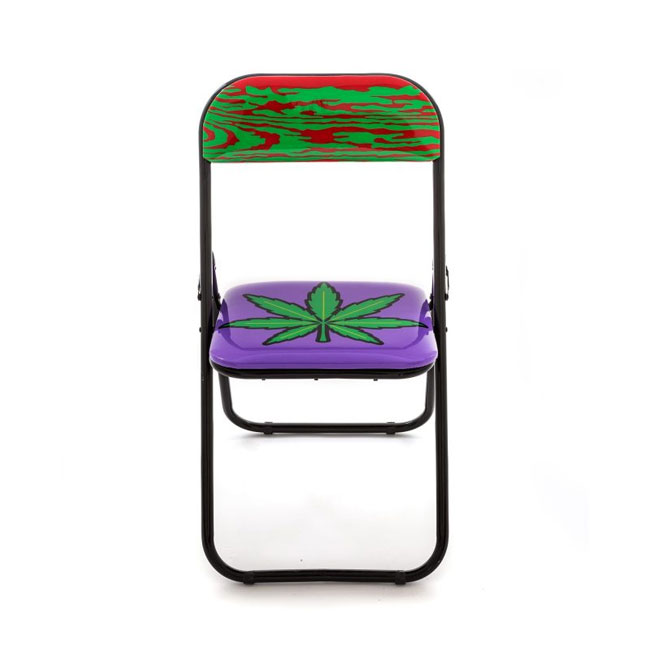 Seletti chaise pliante weed h 80 cm for Chaise 80 cm